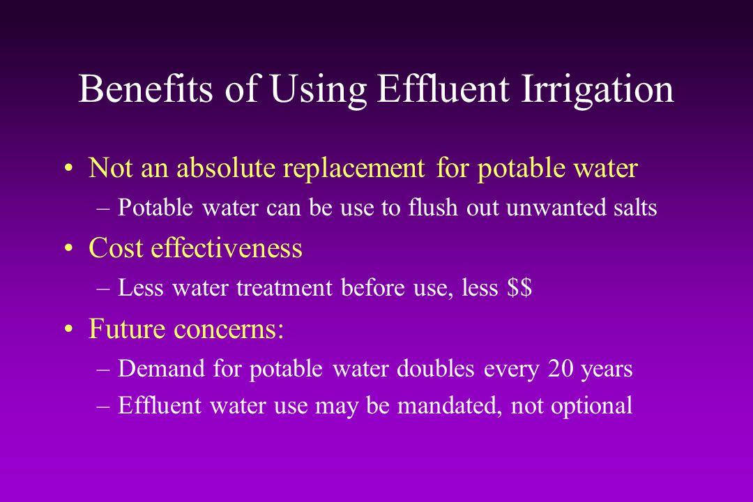 Benefits of Using Effluent Irrigation