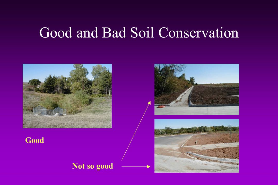 Good and Bad Soil Conservation