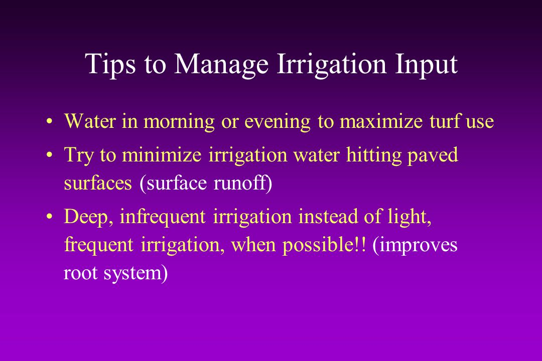 Tips to Manage Irrigation Input