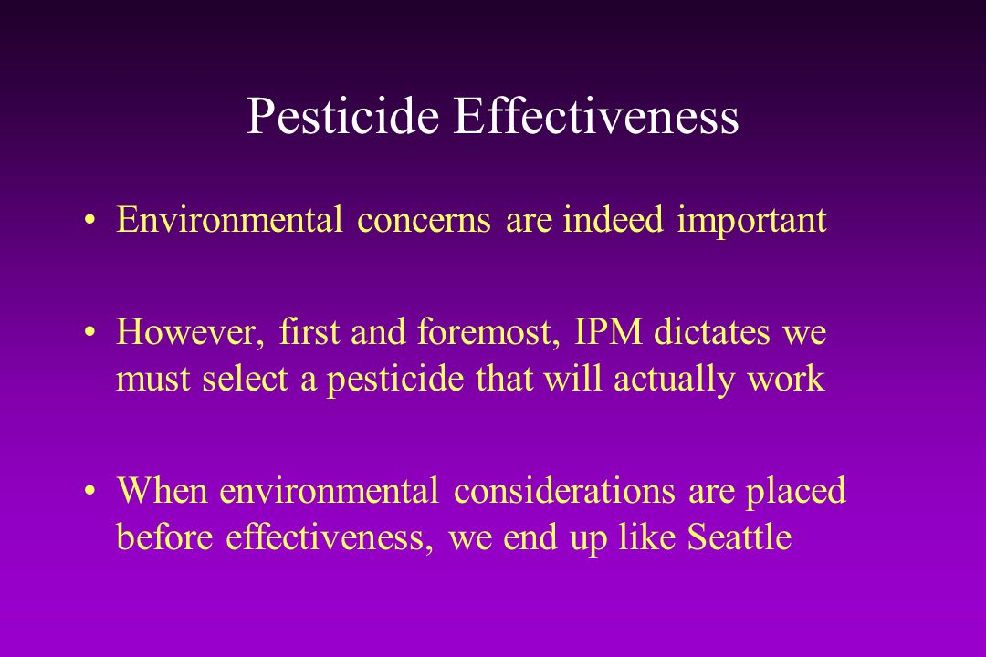 Pesticide Effectiveness