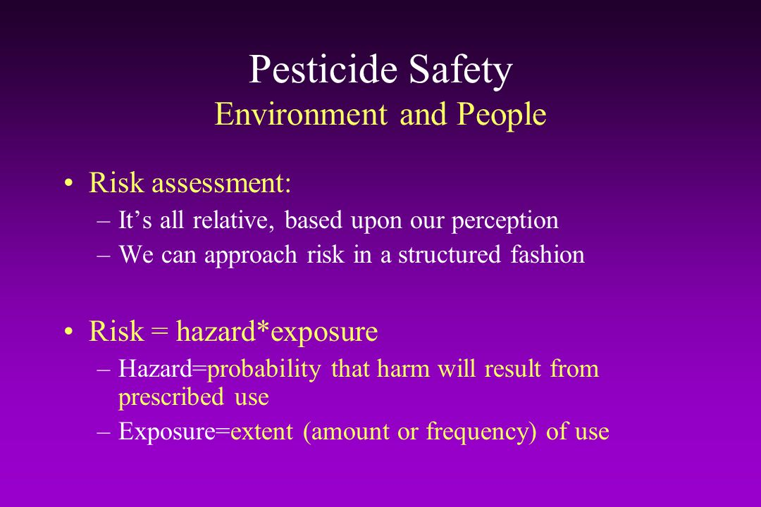 Pesticide Safety Environment and People