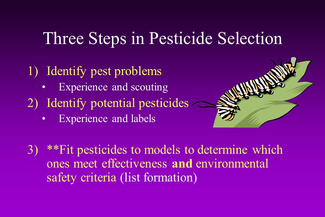 Three Steps in Pesticide Selection