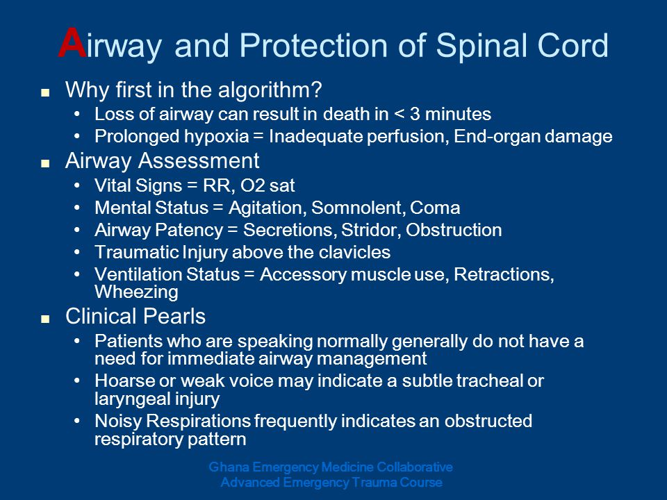 Airway and Protection of Spinal Cord