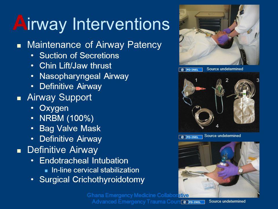 Airway Interventions Maintenance of Airway Patency Airway Support