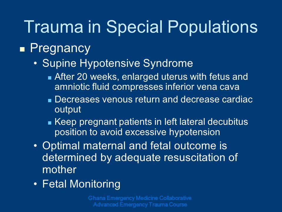 Trauma in Special Populations