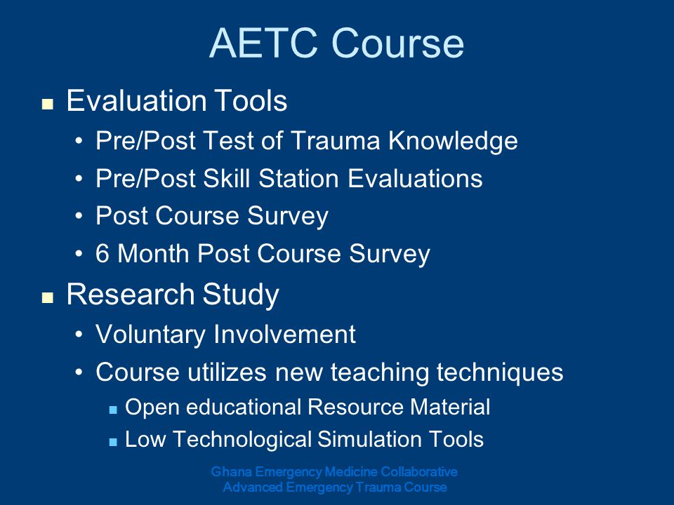 AETC Course Evaluation Tools Research Study