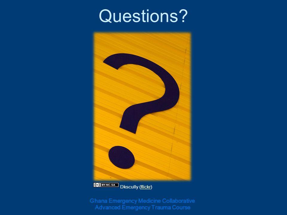 Questions Ghana Emergency Medicine Collaborative