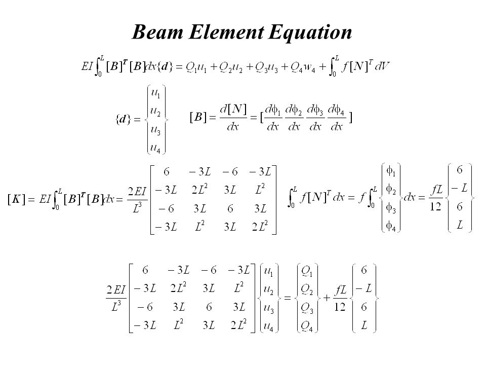 Beam Element Equation