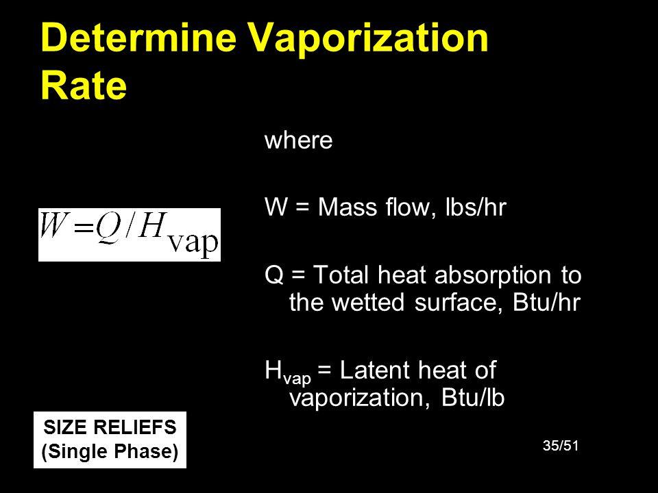 Determine Vaporization Rate