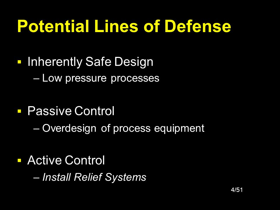 Potential Lines of Defense