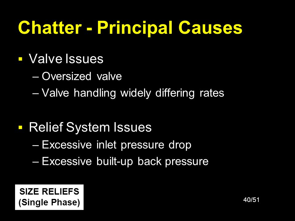 Chatter - Principal Causes