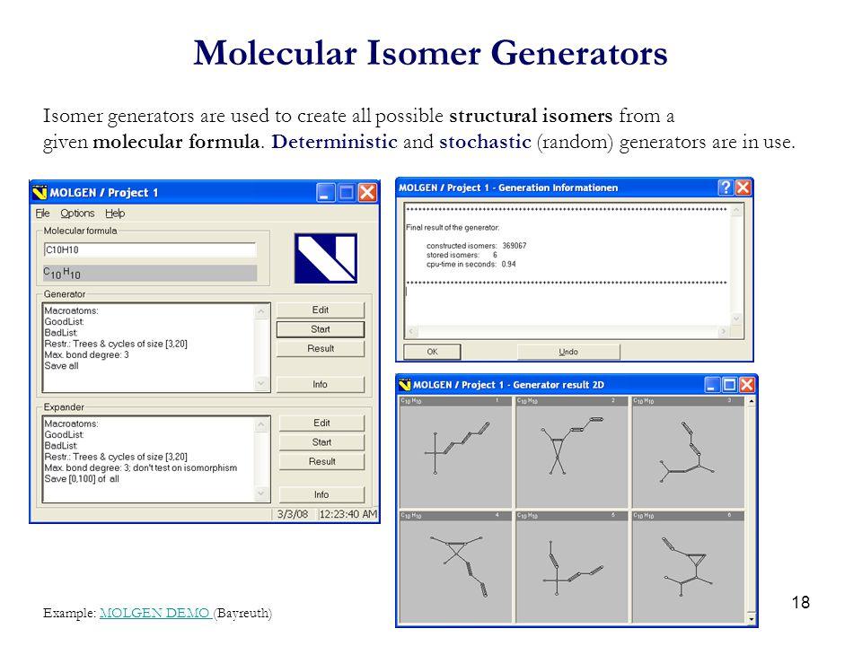 Molecular Isomer Generators