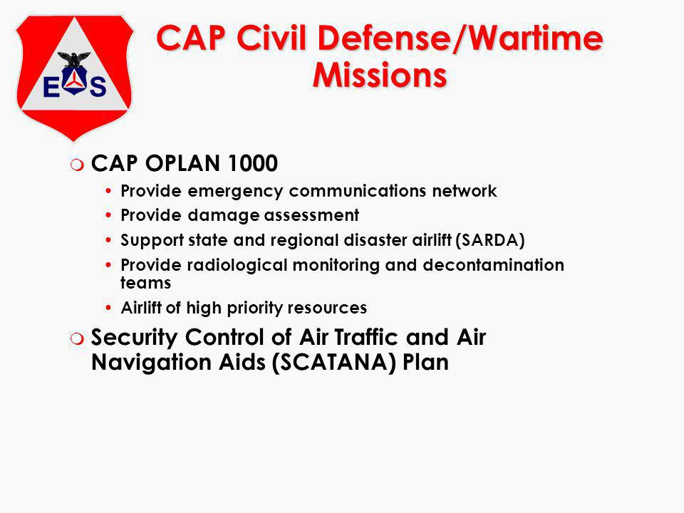 CAP Civil Defense/Wartime Missions