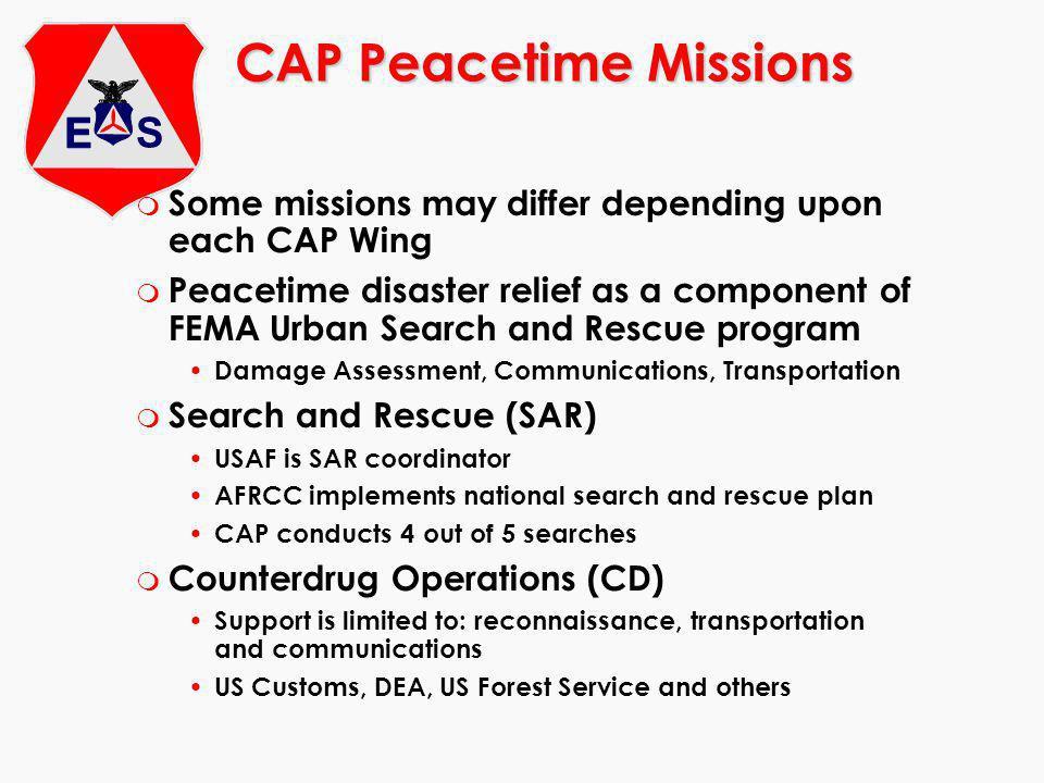 CAP Peacetime Missions