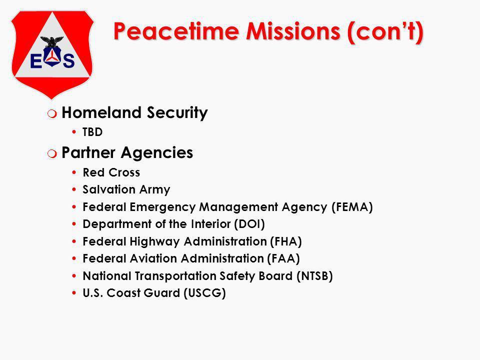 Peacetime Missions (con't)