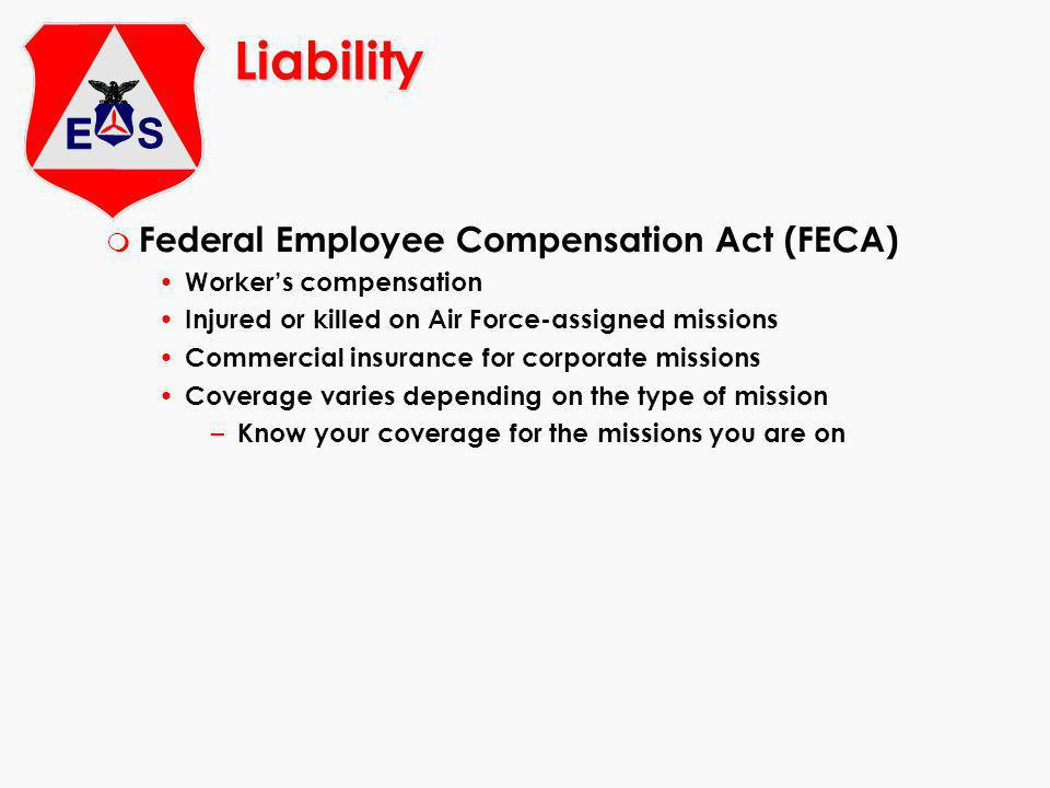 Liability Federal Employee Compensation Act (FECA)