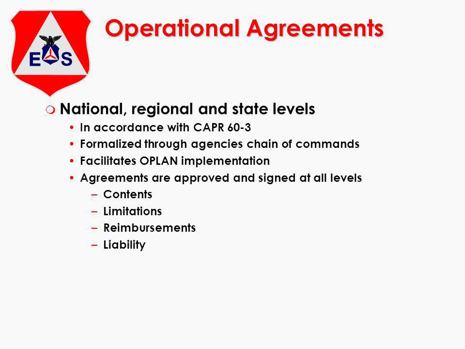 Operational Agreements