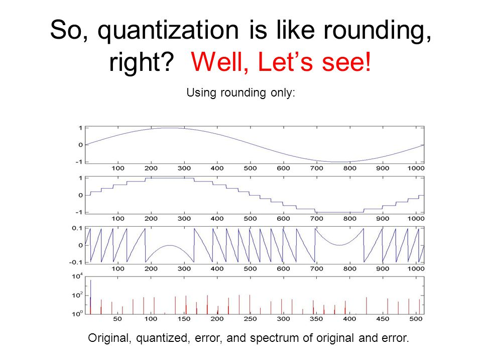 So, quantization is like rounding, right Well, Let's see!