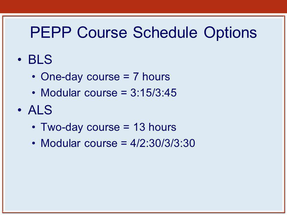 PEPP Course Schedule Options