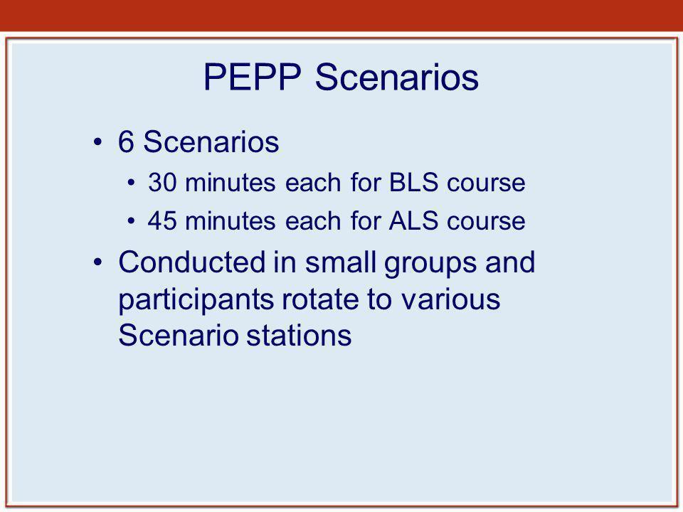PEPP Scenarios 6 Scenarios