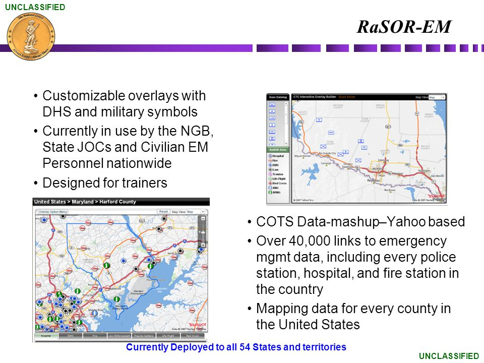 RaSOR-EM Customizable overlays with DHS and military symbols