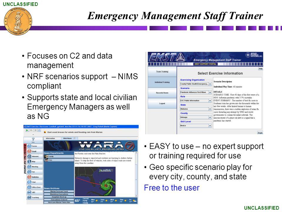 Emergency Management Staff Trainer