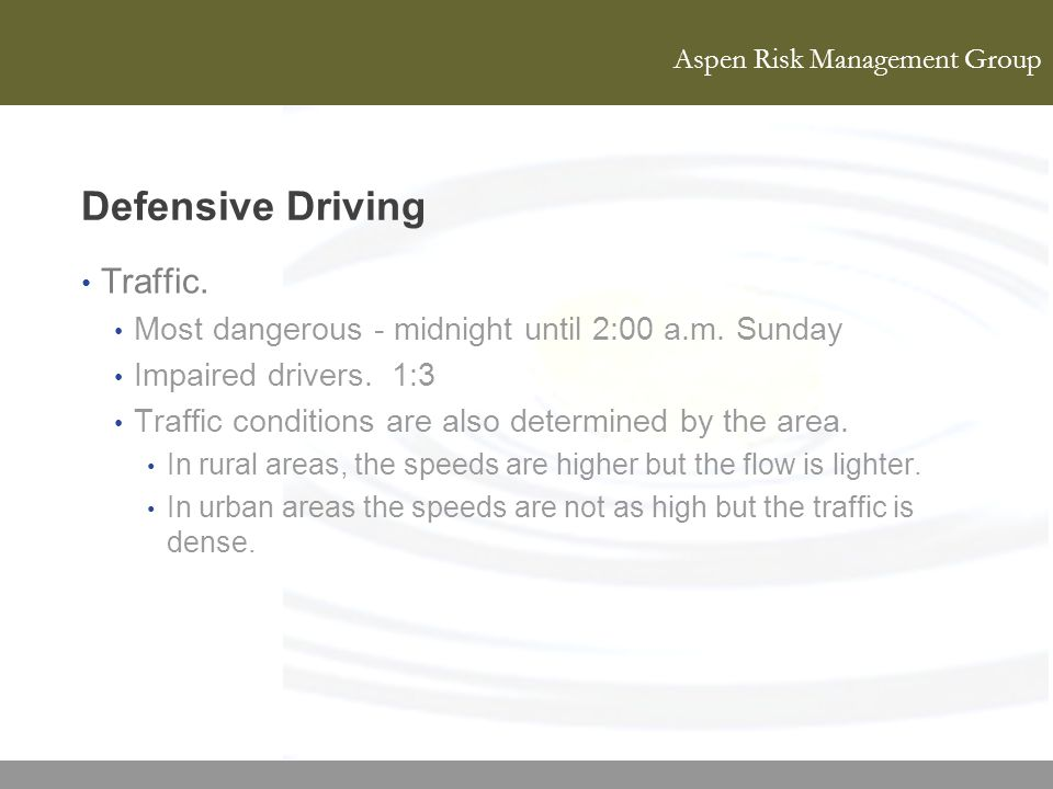 Defensive Driving Traffic.