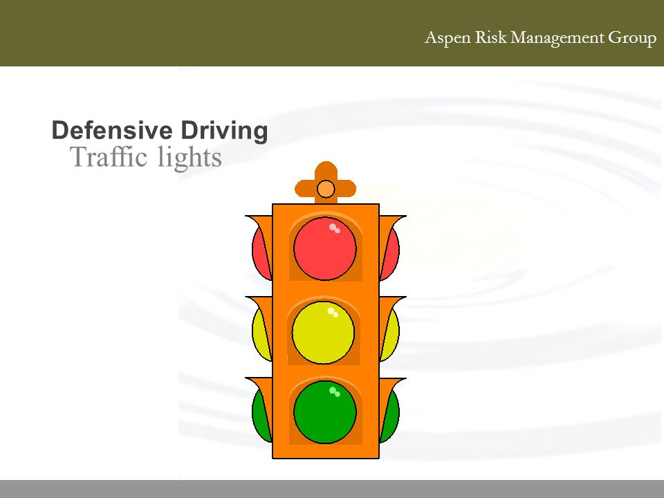 Defensive Driving Traffic lights