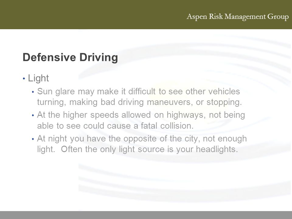 Defensive Driving Light