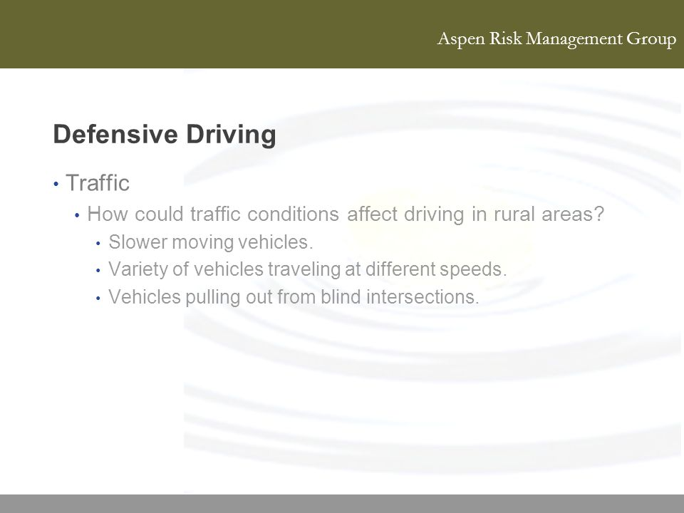 Defensive Driving Traffic