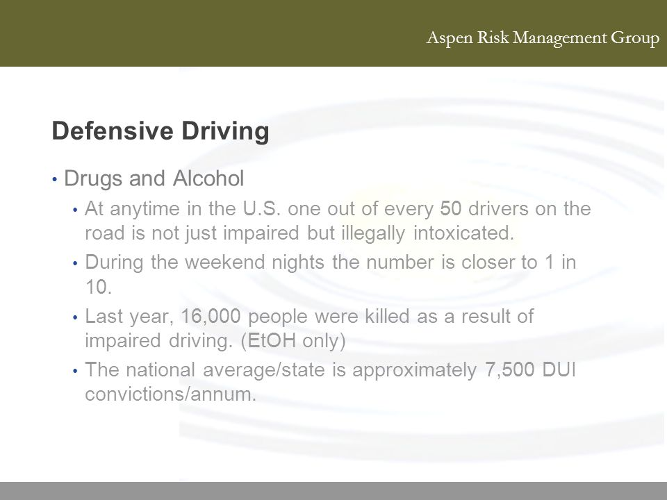 Defensive Driving Drugs and Alcohol