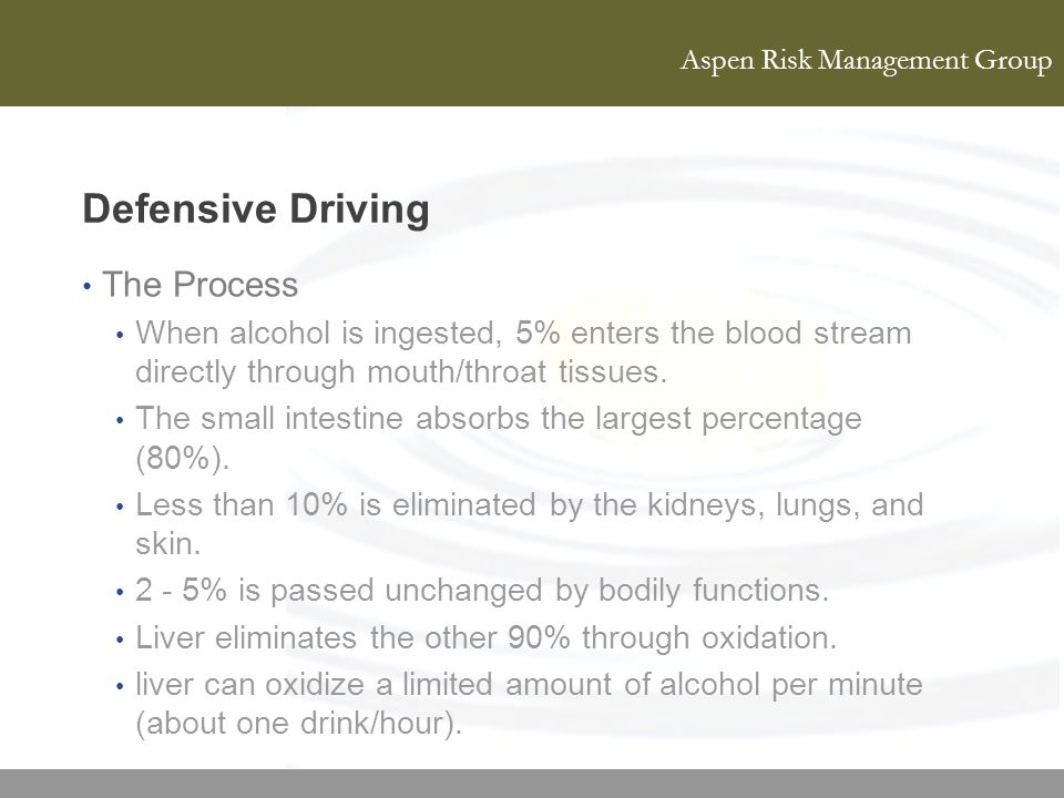 Defensive Driving The Process