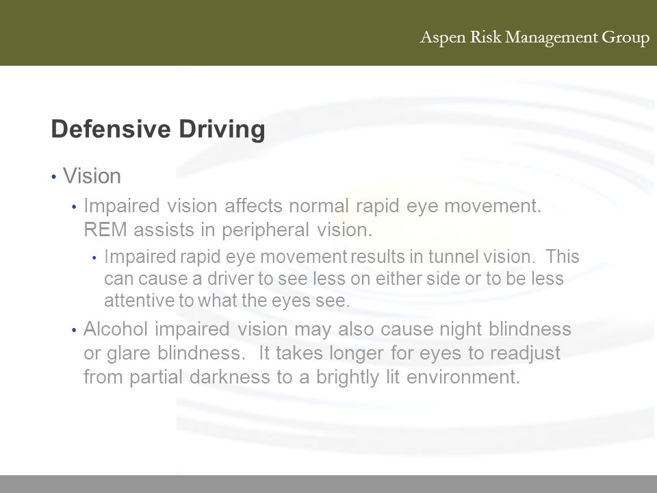 Defensive Driving Vision
