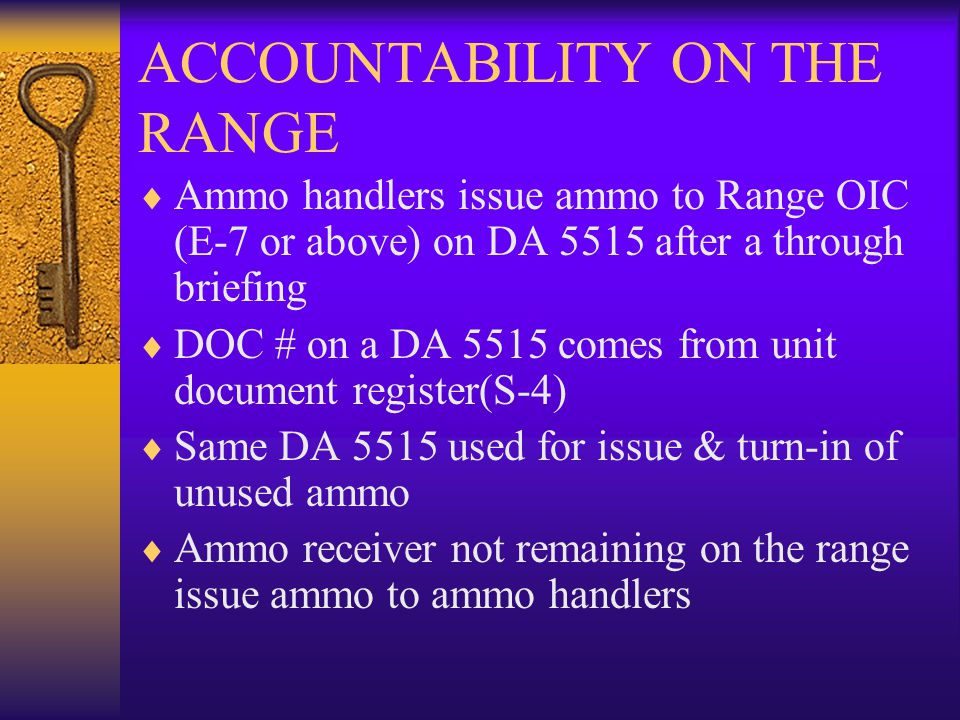 ACCOUNTABILITY ON THE RANGE