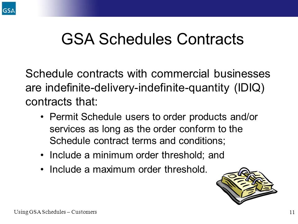 GSA Schedules Contracts