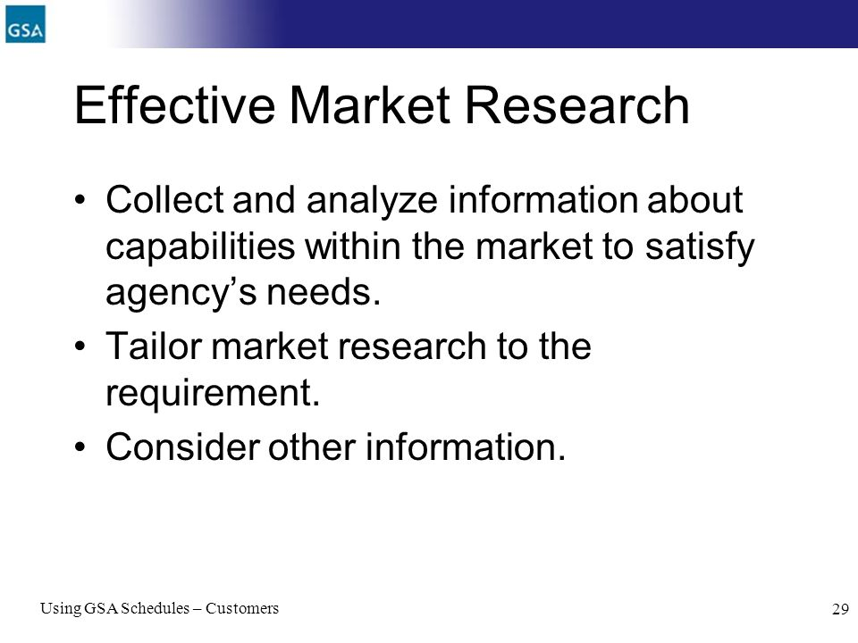 Effective Market Research