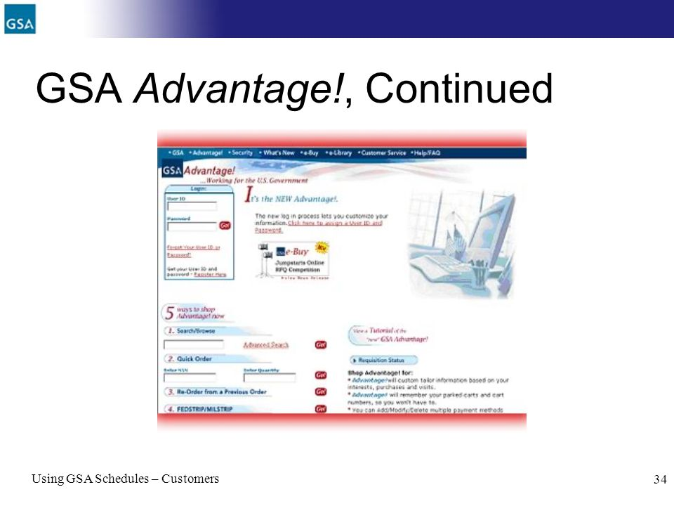 GSA Advantage!, Continued