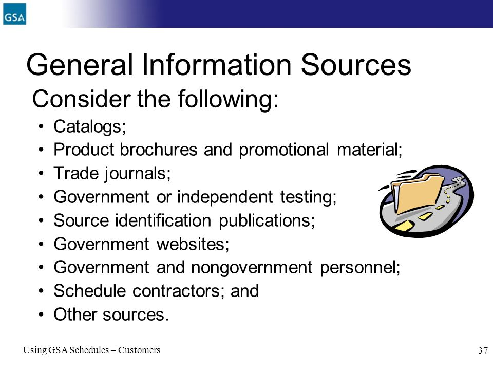 General Information Sources