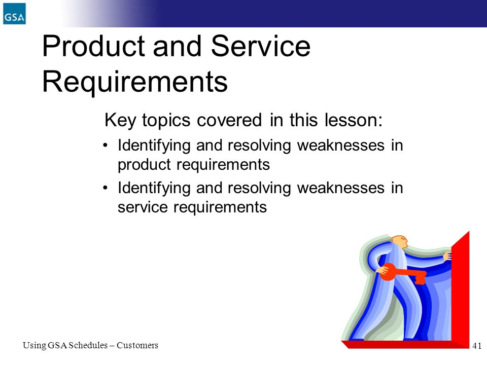 Product and Service Requirements