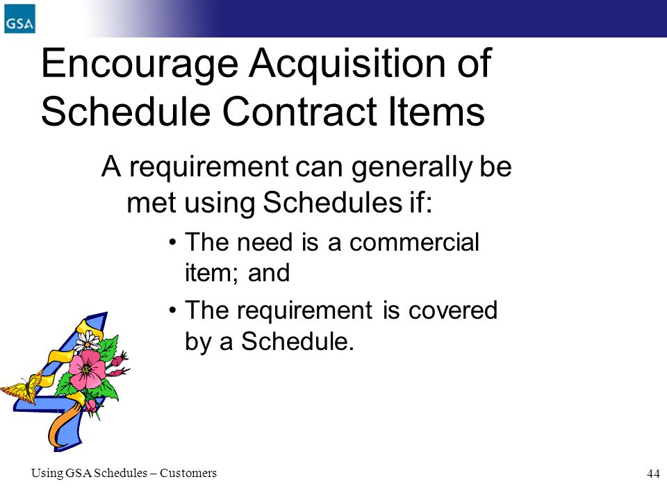 Encourage Acquisition of Schedule Contract Items