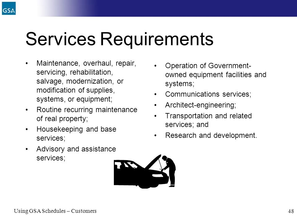 Services Requirements