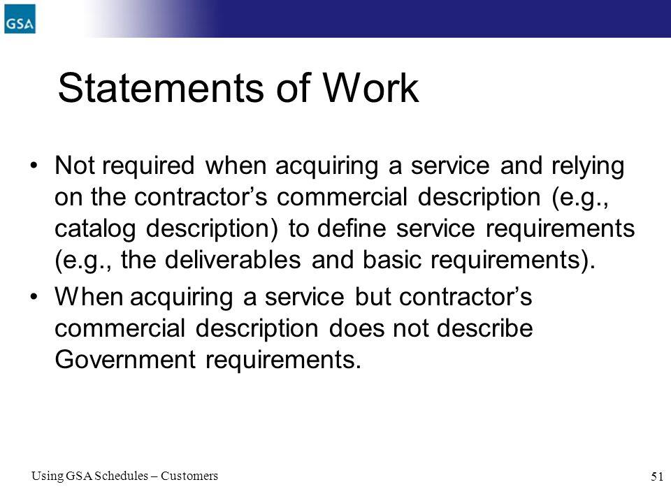 Statements of Work