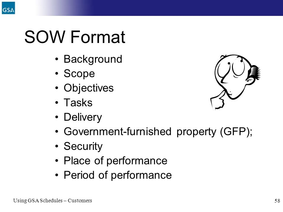 SOW Format Background Scope Objectives Tasks Delivery