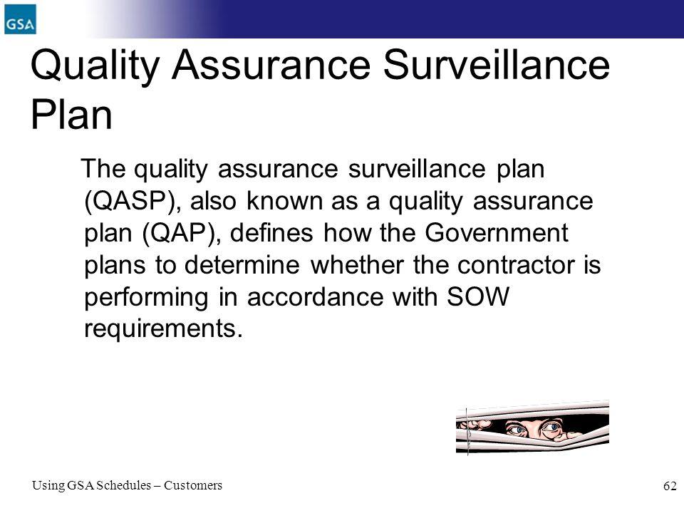 Quality Assurance Surveillance Plan