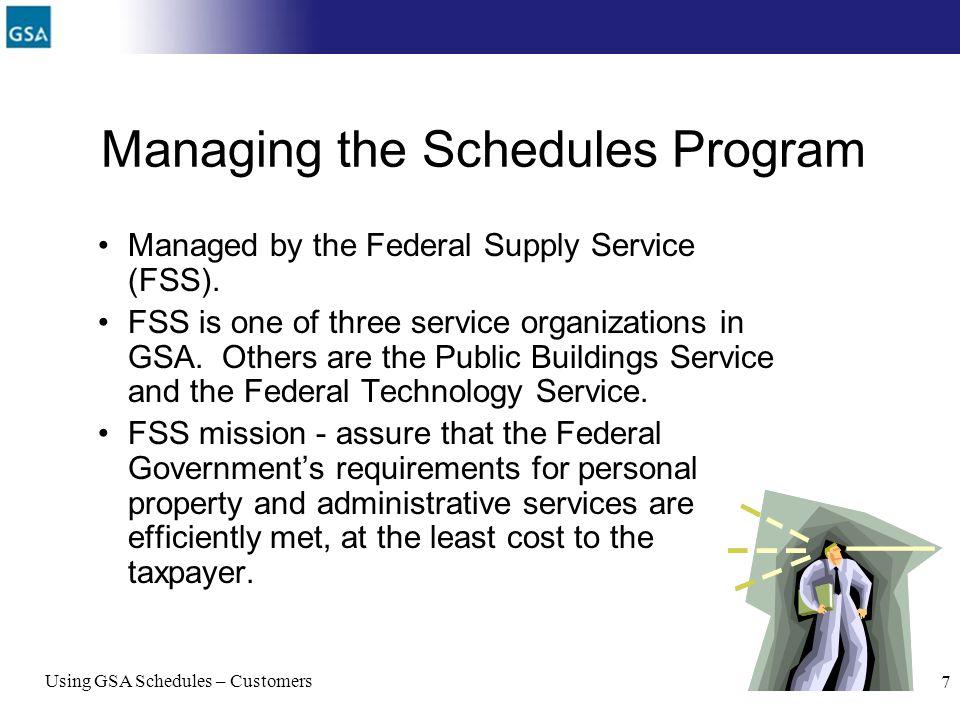 Managing the Schedules Program