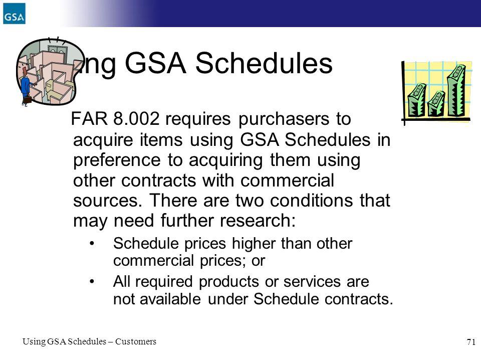 Using GSA Schedules