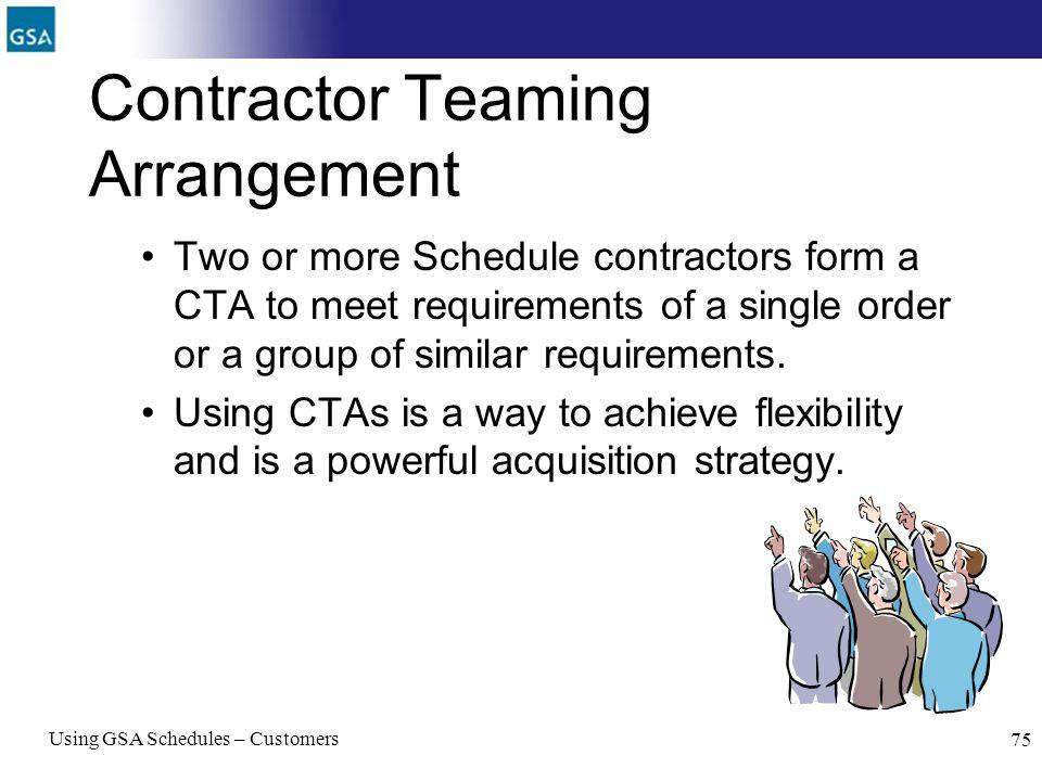 Contractor Teaming Arrangement