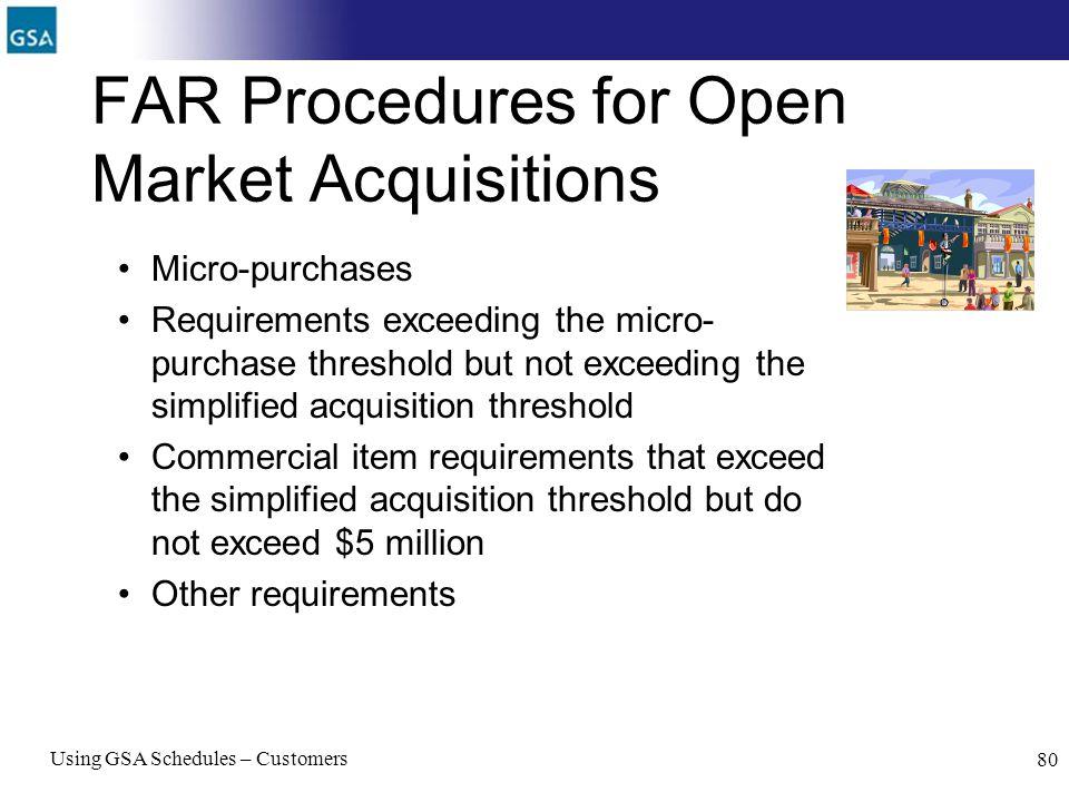 FAR Procedures for Open Market Acquisitions