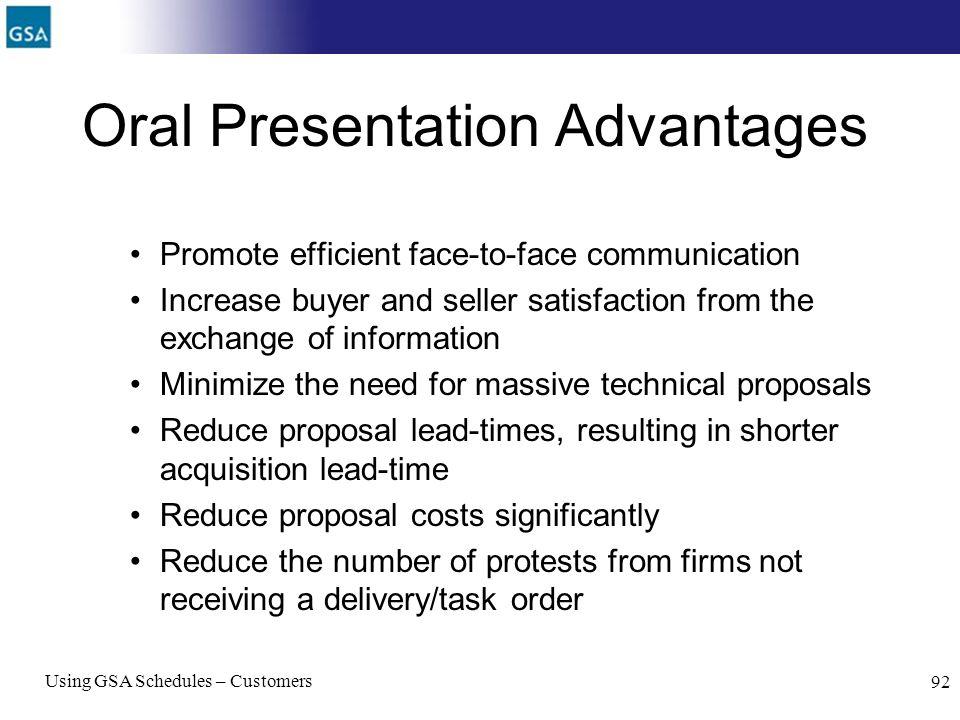 Oral Presentation Advantages