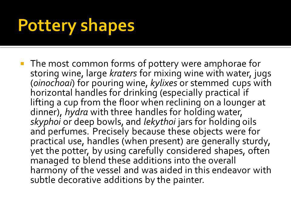Pottery shapes